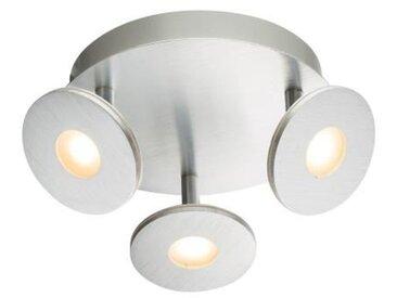Spot LED en aluminium brossé 11,9x25x25cm