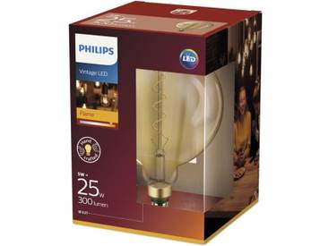 PHILIPS LED Giant Globe Vintage Filament 5 équivalent 25W E27 -  Claire Ambrée blanc chaud