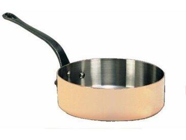 DE BUYER Sauteuse droite cuivre inox et fonte - Ø 28 cm - Orange et gris - Tous feux sauf induction