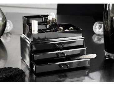 COMPACTOR Boîte de rangement bijoux 3 tiroirs - Noir