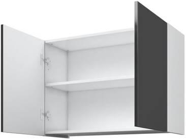 AVA Caisson haut de cuisine L 80 cm - 2 Portes - 2 niches - Gris laqué