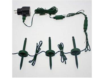 LOTTI Guirlande lumineuse 24 lampe mini pieux de jardin 24 LED lumière fixe - Blanc froid - 24 m