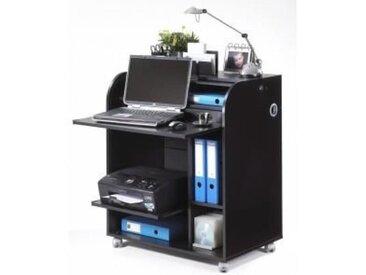 Meuble informatique à roulettes 79,2 cm - Noir - Rideau imprimé Top Secret