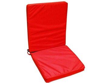 JARDIN PRIVE Coussin d'extérieur pour fauteuil HD MONTE CARLO - 90 x 42 x 5 cm - Rouge Carmin