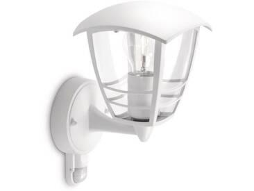 CREEK-Applique dextérieur Montante avec Détecteur Métal H25cm Blanc Philips