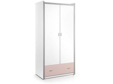 BONNY Armoire de chambre enfant style contemporain rose - L 101 cm