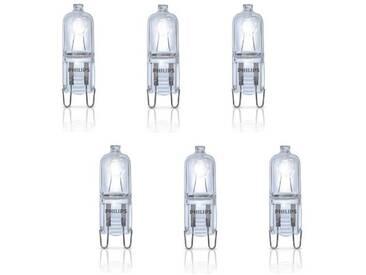 PHILIPS Lot de 6 ampoules Ecoclassic G9 18 W équivalent à 25 W
