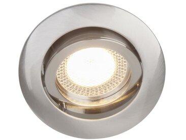 BRILLIANT Spot encastré orientable LED Easy Clip diamètre 8 cm GU10 5W acier