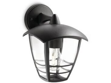 CREEK-Applique dextérieur Descendante Métal H20cm Noir Philips