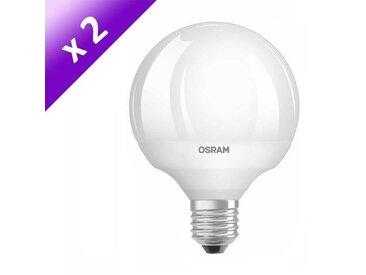 OSRAM Lot de 2 Ampoules LED E27 12 W équivalent à 75 W blanc chaud dimmable variateur