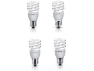 PHILIPS Lot de 4 ampoules fluo-compacte E27 15 W équivalent à 75 W