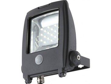 GLOBO LIGHTING Projecteur extérieur aluminium fonte gris - Plastique noir - Verre translucide