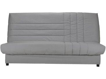 BULTEX Banquette clic clac BIJOU 3 places - Tissu gris - Style contemporain - L 192 x P 95 cm