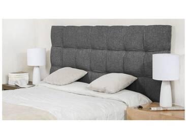 FINLANDEK Tête de lit KYNÄ classique - Tissu gris foncé - L 160 cm