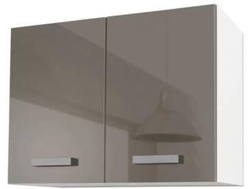 START Meuble haut de cuisine L 80 cm - Taupe brillant