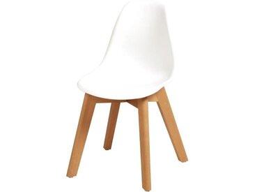 SACHA KIDS Chaise enfant - Pieds en bois hêtre naturel blanc - Scandinave - L 31 x P 37 cm