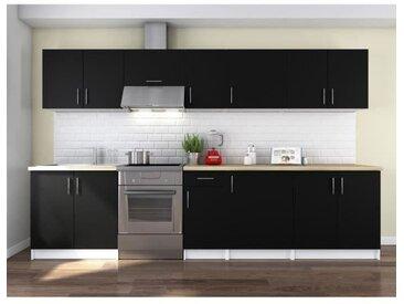 OBI Cuisine complète L 320 cm - Noir mat