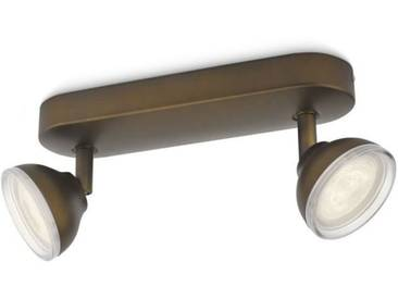 PHILIPS TOSCANE Spot LED 2 lumières - Bronze
