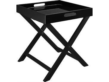 Oken Table dappoint en bois laqué noir