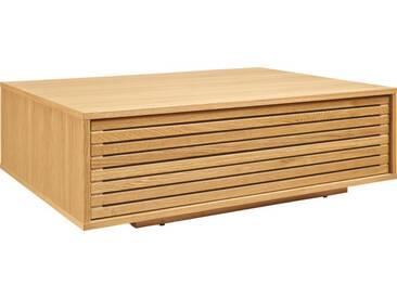 Max II Table basse avec rangement en chêne