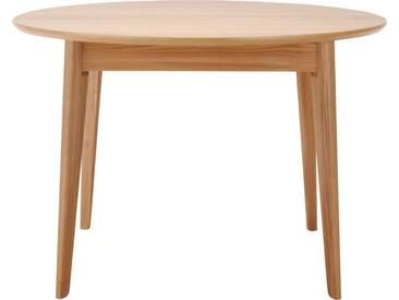 Moder Table de salle à manger ronde extensible en chêne
