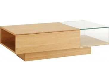 Akira Table basse en verre et chêne