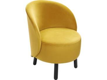 Bold Fauteuil en velours jaune