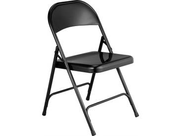 Macadam Chaise pliante noire en acier laqué