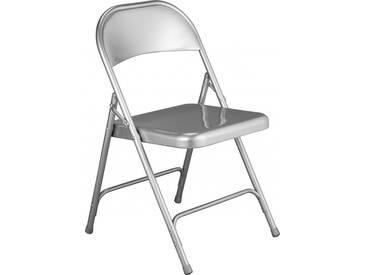 Macadam Chaise pliante gris métallisé en acier laqué
