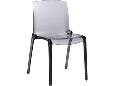 Tallow Chaise grise fumée en plastique