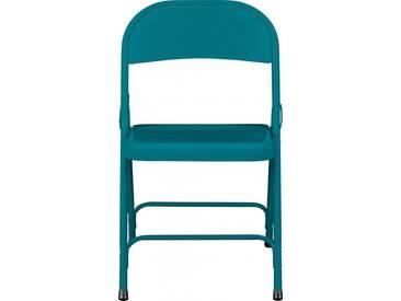 Macadam Chaise pliante - Bleu Paon
