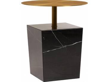 Gold Table dappoint carrée - Marbre - Doré