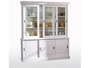 Buffet-vaisselier, pin massif, Authentic Style LA REDOUTE INTERIEURS Blanc