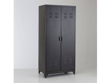 Armoire vestiaire, métal, 2 portes, Hiba LA REDOUTE INTERIEURS Noir