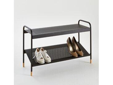 Banc à chaussures Agama, 2 étagères LA REDOUTE INTERIEURS Noir