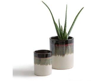 Cache-pots céramique tie & dye Tapiwa (lot de 2) LA REDOUTE INTERIEURS Blanc Cassé/Kaki