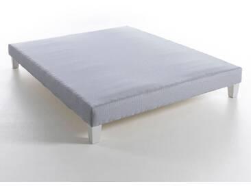 Sommier tapissier à lattes recouvertes, H26 cm, lu AM.PM Rayé Bleu