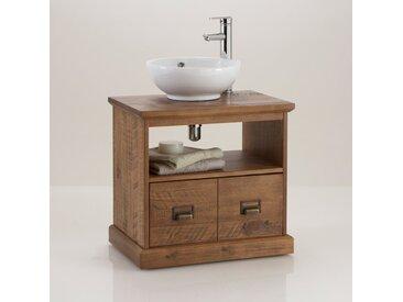 Meuble sous lavabo de salle de bain, Lindley. LA REDOUTE INTERIEURS Bois Foncé Chêne
