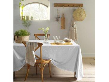 Nappe coton/lin frangé, Bello LA REDOUTE INTERIEURS Blanc