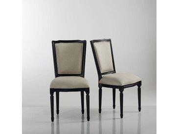 Chaise style Louis XVI, (lot de 2) Trianon LA REDOUTE INTERIEURS Lin Noir