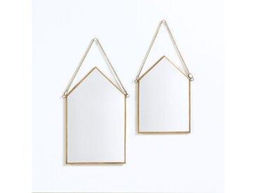 Lot de 2 miroirs maison(lot de 2), Uyova LA REDOUTE INTERIEURS Laiton