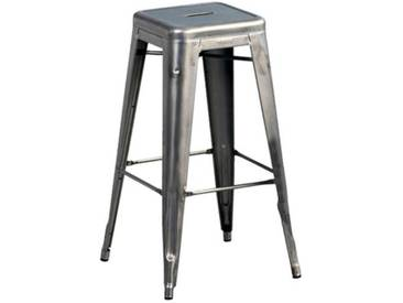 Tabouret de bar Tolix H.75 cm (lot de 2)AM.PMAcier Verni Satiné