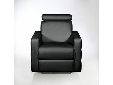 Fauteuil de relaxation électrique cuir, Hyriel LA REDOUTE INTERIEURS Noir