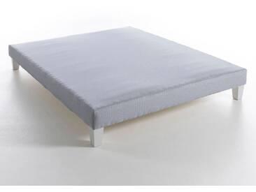 Sommier tapissier à lattes recouvertes, H17 cm, So AM.PM Rayé Bleu