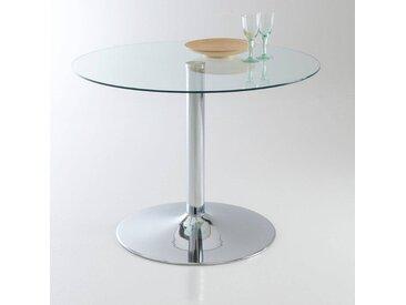 Table ronde, verre trempé, 4 couverts, Janik LA REDOUTE INTERIEURS Transparent