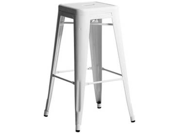 Tabouret de bar Tolix H.75 cm (lot de 2)AM.PMBlanc
