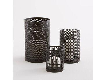Photophore métal, Bataglia (lot de 3) AM.PM Noir