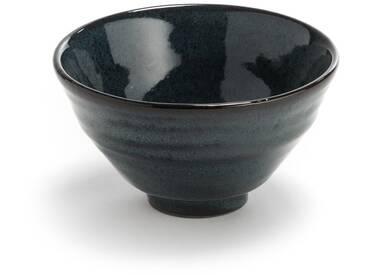 2 bols en terre cuite, grand modèle, Amiko AM.PM Bleu Nuit