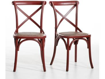 Chaise Humphrey, (lot de 2)AM.PMRouge Sang De Boeuf