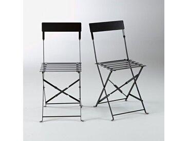 Chaise pliante métal, OZEVAN (lot de 2) LA REDOUTE INTERIEURS Noir
